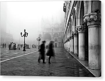 St Mark's Square Canvas Print by Marion Galt