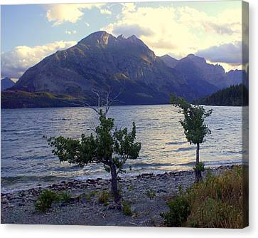 St. Mary Lake Canvas Print by Marty Koch