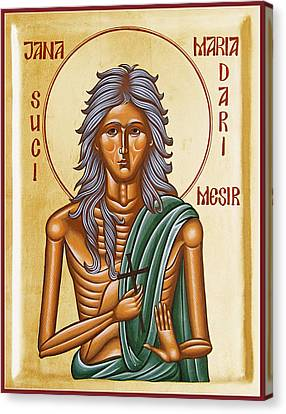 St Mary Of Egypt  Canvas Print by Julia Bridget Hayes