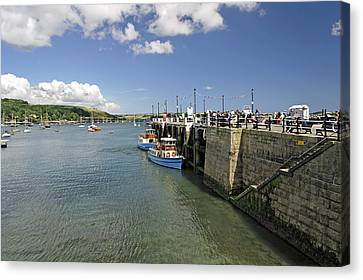 St Mawes Ferries Alongside The Pier Canvas Print by Rod Johnson