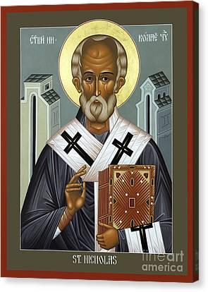 St. Nicholas Of Myra - Rlnic Canvas Print by Br Robert Lentz OFM