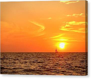 St. Pete Beach Sunset Canvas Print by Sandy Taylor