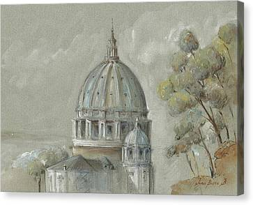 St Peter's Basilica Rome Canvas Print by Juan Bosco