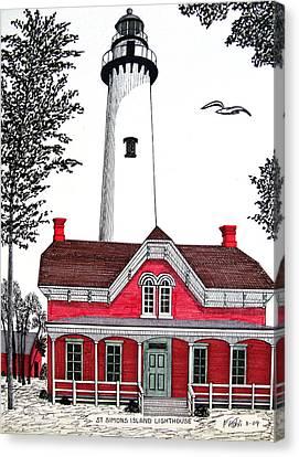 St Simons Lighthouse - Museum Canvas Print by Frederic Kohli