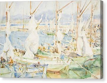 St Tropez Canvas Print by Henry Scott Tuke