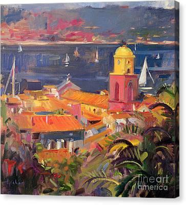 St Tropez Sailing Canvas Print by Peter Graham