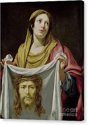 St. Veronica Holding The Holy Shroud Canvas Print by Simon Vouet