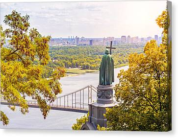 St Vladimir, Monument In Kiev Canvas Print by Alain De Maximy