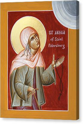St Xenia Of St Petersburg Canvas Print by Julia Bridget Hayes