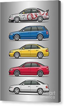 Stack Of Audi A4 B5 Type 8d Canvas Print by Monkey Crisis On Mars