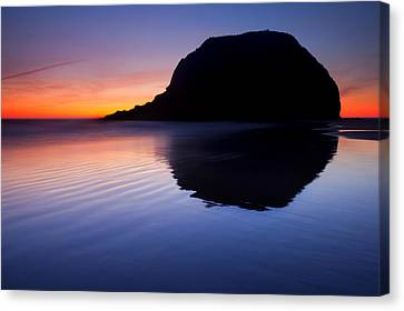 Stack Reflections Canvas Print by Mike  Dawson
