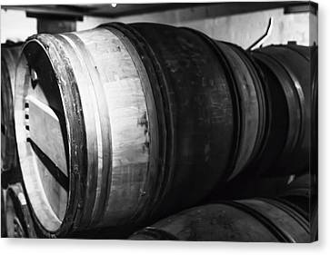 Stacked Barrels Canvas Print by Georgia Fowler