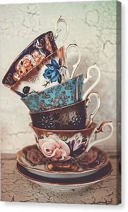 Stacked Teacups V Canvas Print by Colleen Kammerer