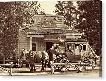 Stage Coach Stop - Jackson Hole Wy Canvas Print by Christine Till