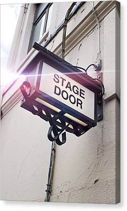 Stage Door Sign Canvas Print by Tom Gowanlock