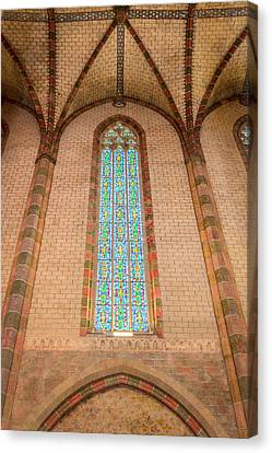 Stained Glass In The Church Of The Jacobins In Toulouse Canvas Print by Semmick Photo