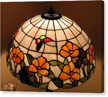 Stained-glass Lampshade Canvas Print by Suhas Tavkar
