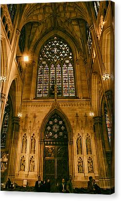 Stained Glass Windows Canvas Print by Jessica Jenney
