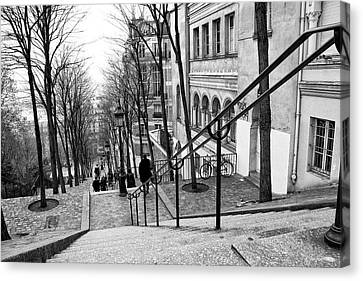 Staircase At Montmartre Canvas Print by Diana Haronis