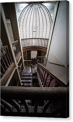 Stairway Of Abandoned Castle - Abandoned Building Canvas Print by Dirk Ercken