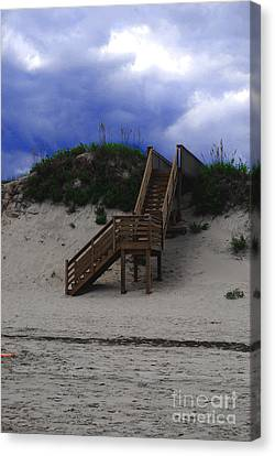 Stairway To Reality Canvas Print by Linda Mesibov