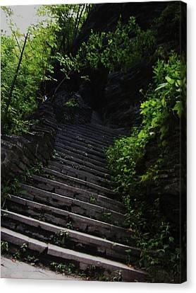 Stairway To Watkins 2 Canvas Print by InTheSane DotCom