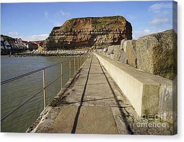 Staithes Canvas Print by Stephen Smith