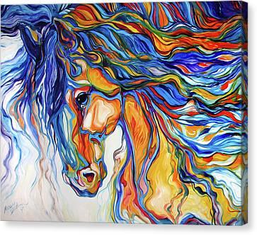Stallion Southwest By M Baldwin Canvas Print by Marcia Baldwin