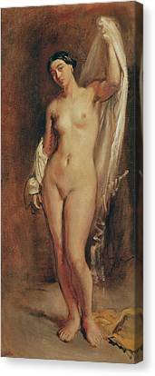 Standing Female Nude Canvas Print by Theodore Chasseriau
