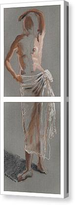 Standing Figure-diptych Canvas Print by Gideon Cohn