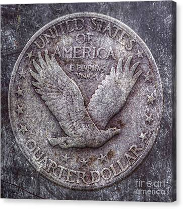 Standing Liberty Quarter Reverse Canvas Print by Randy Steele