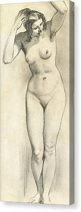 Standing Nude Canvas Print by William Edward Frost