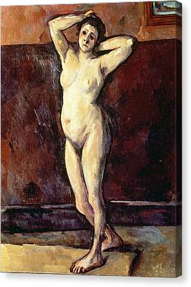 Standing Nude Woman Canvas Print by Cezanne
