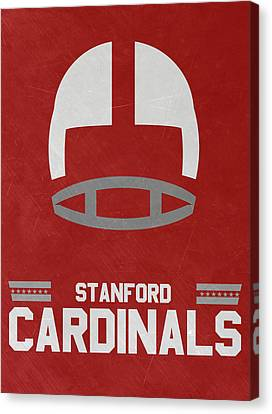 Stanford Cardinals Vintage Football Art Canvas Print by Joe Hamilton