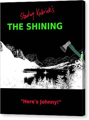 Stanley Kubricks The Shining Movie Poster Canvas Print by Enki Art