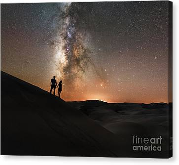 Star Crossed Lovers At Night Canvas Print by Michael Ver Sprill