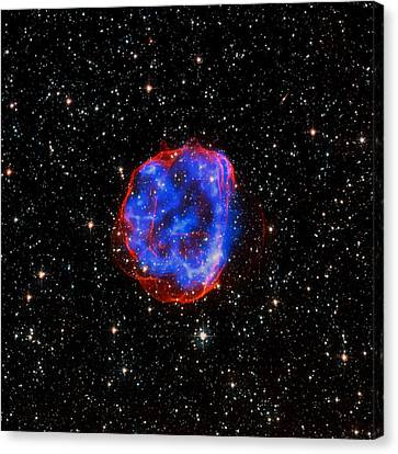 Star Explosion In The Large Magellanic Cloud Canvas Print by Mountain Dreams