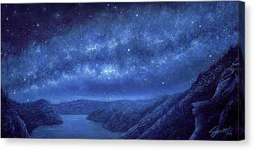 Star Path Canvas Print by Lucy West