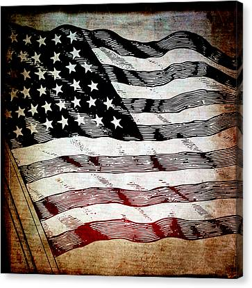 Star Spangled Banner Canvas Print by Angelina Vick