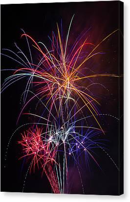 Star Spangled Fireworks Canvas Print by Garry Gay