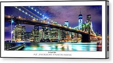 Star Spangled Skyline Poster Print Canvas Print by Az Jackson