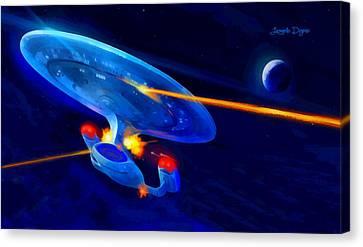 Star Trek Enterprise - Da Canvas Print by Leonardo Digenio