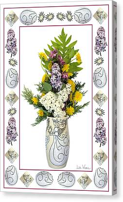 Star Vase With A Bouquet From Heaven Canvas Print by Lise Winne