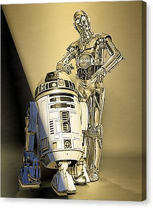 Star Wars C3po And R2d2 Collection Canvas Print by Marvin Blaine