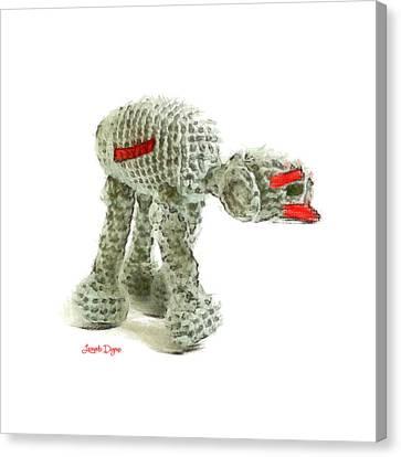 Star Wars Combat Crochet Armoured Vehicle - Da Canvas Print by Leonardo Digenio