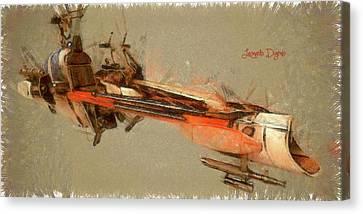 Star Wars Combat Speeder Canvas Print by Leonardo Digenio