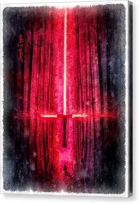 Star Wars Cross Canvas Print by Leonardo Digenio
