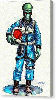 Star Wars Duro Pilot - Da Canvas Print by Leonardo Digenio
