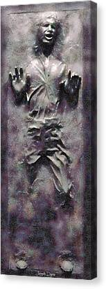 Star Wars Han Solo Frozen In Carbonite - Pa Canvas Print by Leonardo Digenio