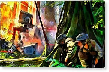Star Wars Hot Times - Da Canvas Print by Leonardo Digenio